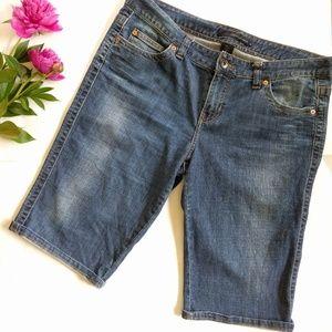 /Calvin Klein/ denim boyfriend shorts